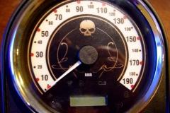 Retro mit Skull